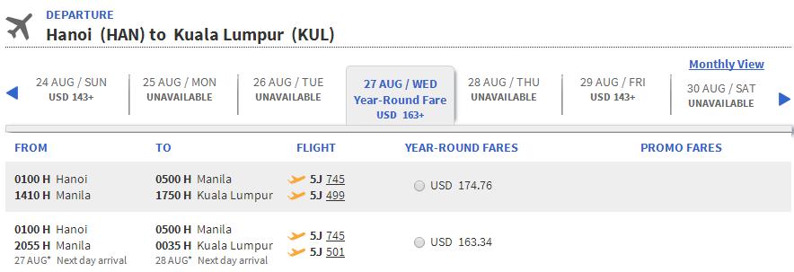 Vé máy bay đi Malaysia giá rẻ nhất