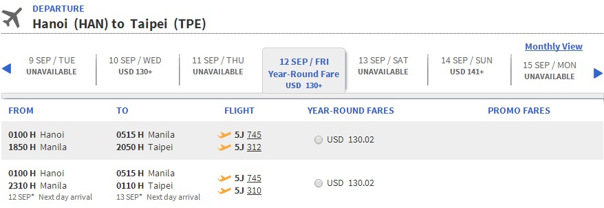 Vé máy bay đi Đài Loan bao nhiêu tiền?