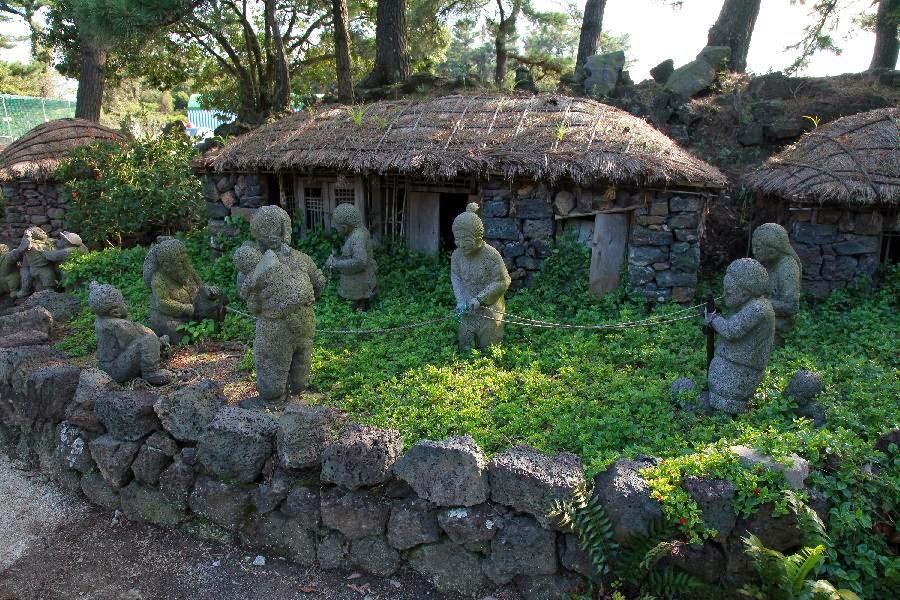 đá xây nhà trên đảo jeju