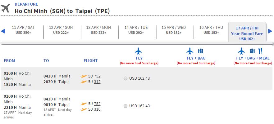 Vé máy bay đi Đài Trung giá rẻ