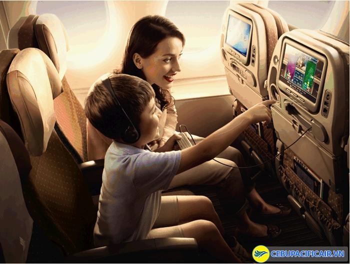 Các dịch vụ giải trí trên máy bay cũng có mức phụ thu tương ứng