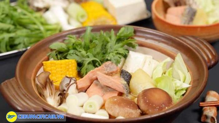Món cá hồi Nabe tuyệt hảo
