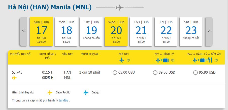 Hành trình Hà Nội đến Manila chỉ từ 65 USD