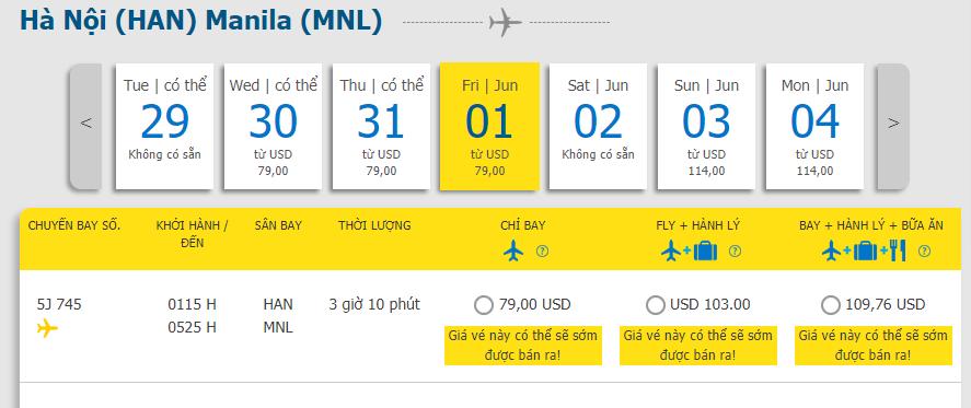 Hành trình Hà Nội - Manila chỉ từ 79 USD