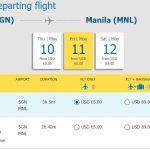 Hành trình Hồ Chí Minh – Manila chỉ từ 65 USD