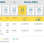 Hành trình từ Hồ Chí Minh – Manila chỉ từ 65 USD