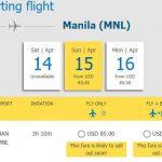 Hành trình từ Hà Nội – Manila chỉ từ 85 USD