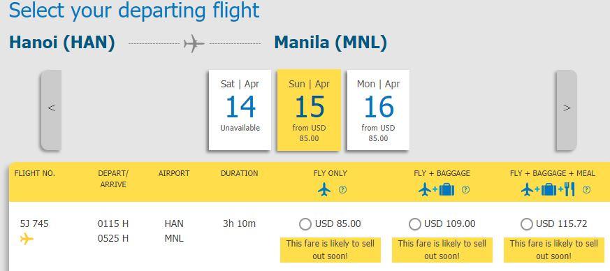 Hành trình từ Hà Nội - Manila chỉ từ 85 USD