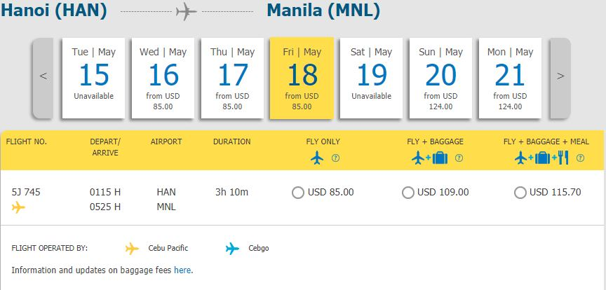 Hành trình từ Hồ Chí Minh - Manila chỉ từ 65 USD