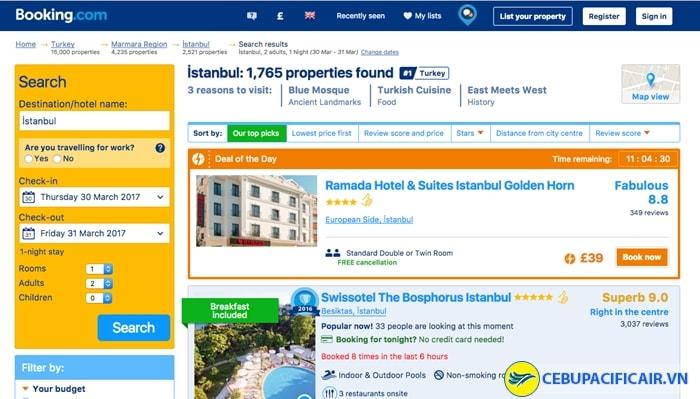 Website đặt phòng trực tuyến Booking.com