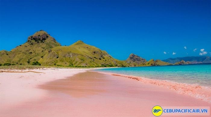 Bãi biển màu hồng Pantai Pink