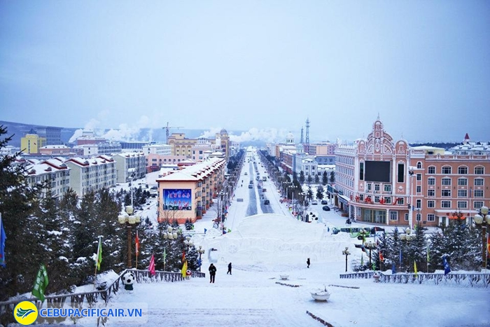 Mùa Đông tuyết phủ khắp mọi nơi ở Beiji