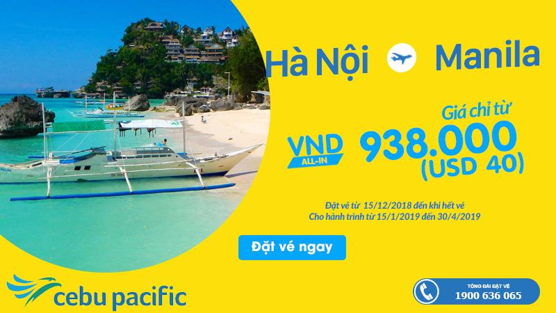 Giá vé khuyến mãi từ Hà Nội - Manila